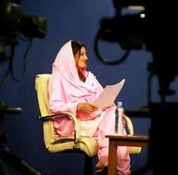 Afghan female television presenter
