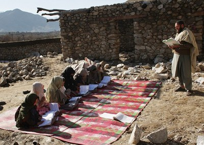 A class for girls in Afghanistan