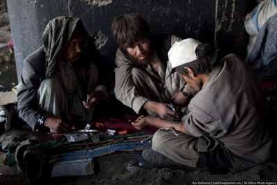 Heroin users in Afghansitan