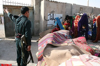 Iranian police force Afghan refugees to leave