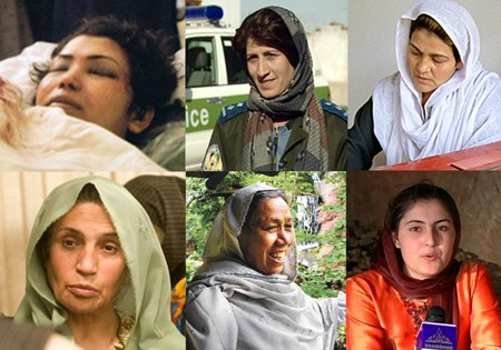 Some Afghan women who have been murdered