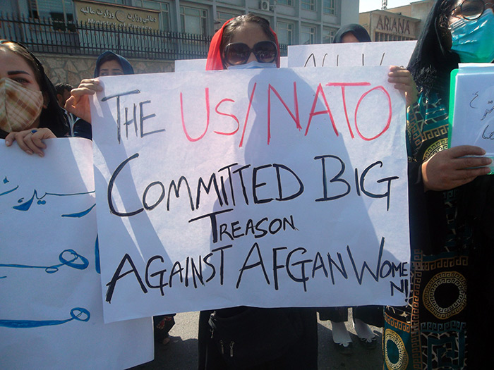 Protest of Afghan women in Kabul