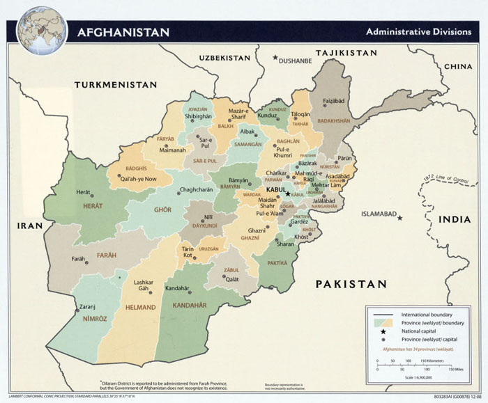 Map of Afghanistan's provinces