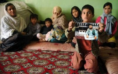 A family victim of Taliban suicide attacks