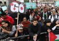 Assange, Jemima Khan join 5,000 on anti-Afghanistan war march 10 years after conflict began