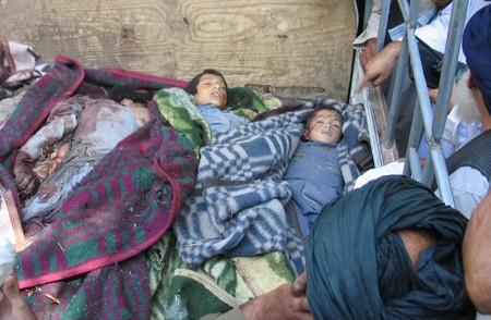 Three children killed in an airstrike by foreign troops in Arghandab district of Kandahar