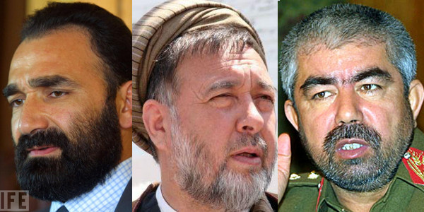 Atta Mohammad Noor, Mohammad Mohaqiq and Rashid Dostum Afghan warlords involved in corruption