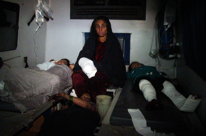 Most of the victims of the attack in Helmand's Sangin district were women and children
