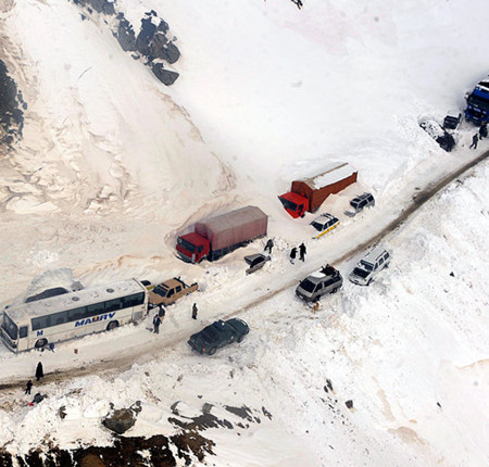 Avalanches occur every year in Salang Pass, north of Kabul