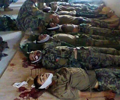 More than 30 ANA soldiers were slaughtered by Taliban in a checkpost in Badakhshan province, Afghanistan.
