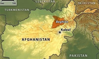 Baghlan map Afghanistan