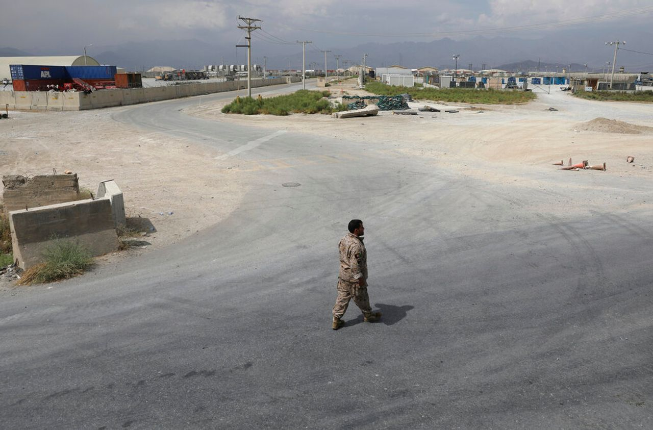 Bagram air base after the American military departed