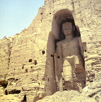In 2001, the Taliban destroyed the Bamiyan buddhas, including the one seen here