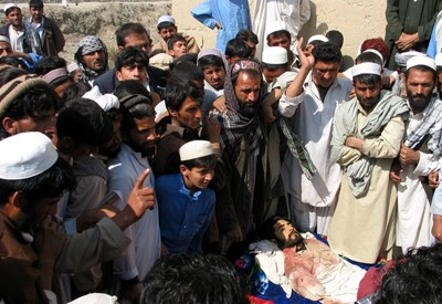 An Afghan man who was killed by US military