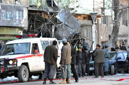 kabul city center. Site of blast in Kabul City