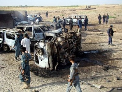 Blast site in Helmand