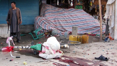 An earlier suicide attack in Kunduz province killed 10 people