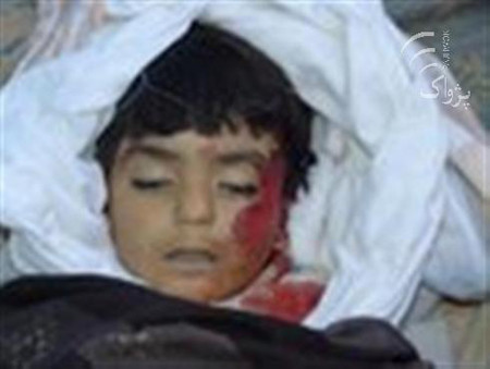 A vehicle of foreign troops traveling in a convoy crushed to death a child in southern Kandahar province