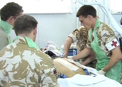 A suspected Taliban fighter gets the best medical care at Camp Bastion