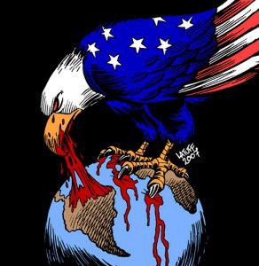 Cartoon of American imperialism