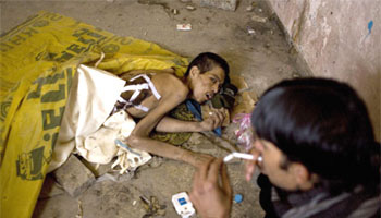Child drug addicts in Afghanistan