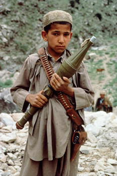 Afghan child soldier