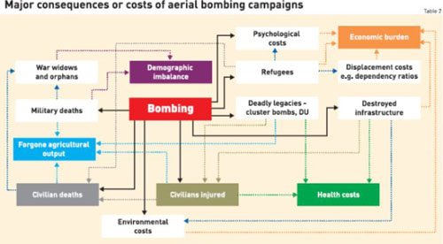 Costs and consequences of aerial bombings