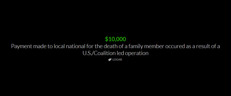 How the military compensates for victims lives in Afghanistan