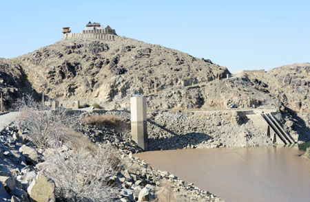 The Dahla Dam is full of silt, reducing its effectiveness for farmers in Kandahar province who rely on water from irrigation ditches fed by the dam