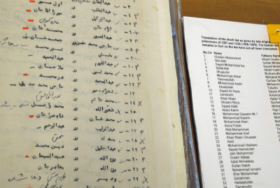 An extract from the Afghan death list