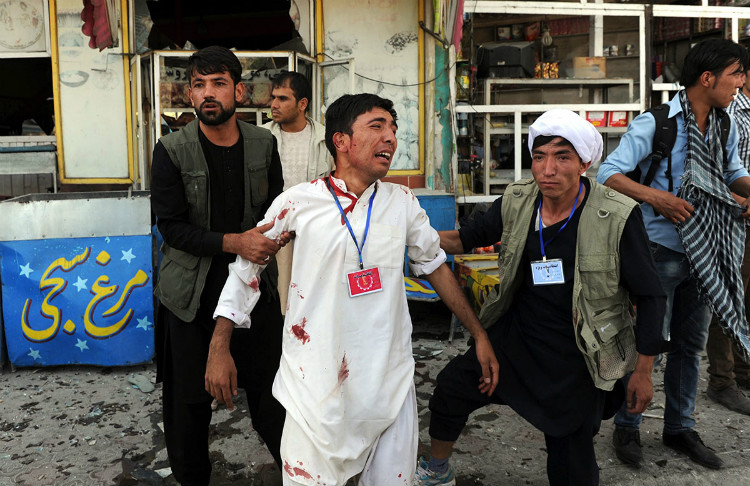 Blast ripped through Hazara protest in Kabul Afghanistan on July 23 2016 with more than 300 casualties