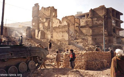 Kabul destroyed under the Mujahideen rule