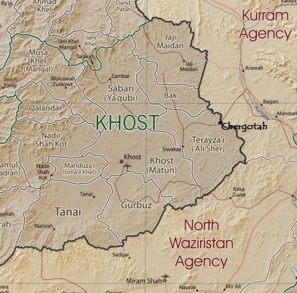 Khost map with details