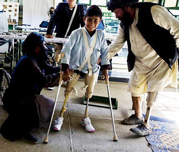 Disabled Afghan boy