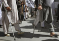 Disabled protest in front of Karzai office