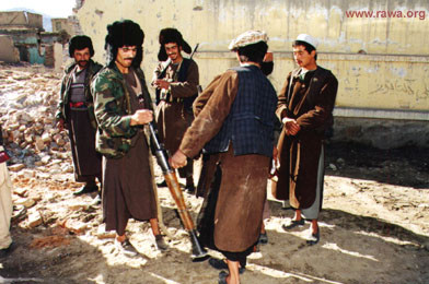 Criminal jehadi forces of Abdul Rashid Dostum in Kabul, 1994
