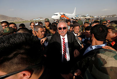 Dostum, the vice president of Afghanistan, arriving in Kabul last month, ending his self-imposed exile in Turkey