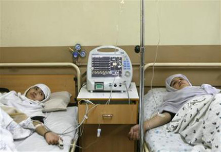 Schools girls in hospital in Kabul after gas attack