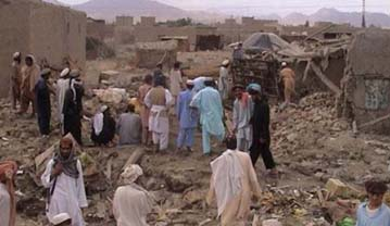 Aftermath of pre-dawn drone strike in Datta Kheil, North Waziristan