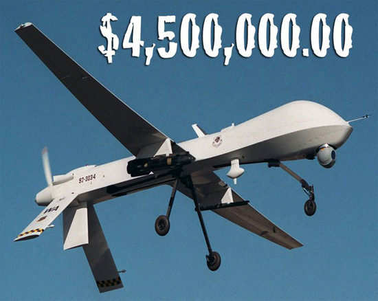 Every drone costs 4.5 million USD!
