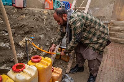 Water shortage in Kabul