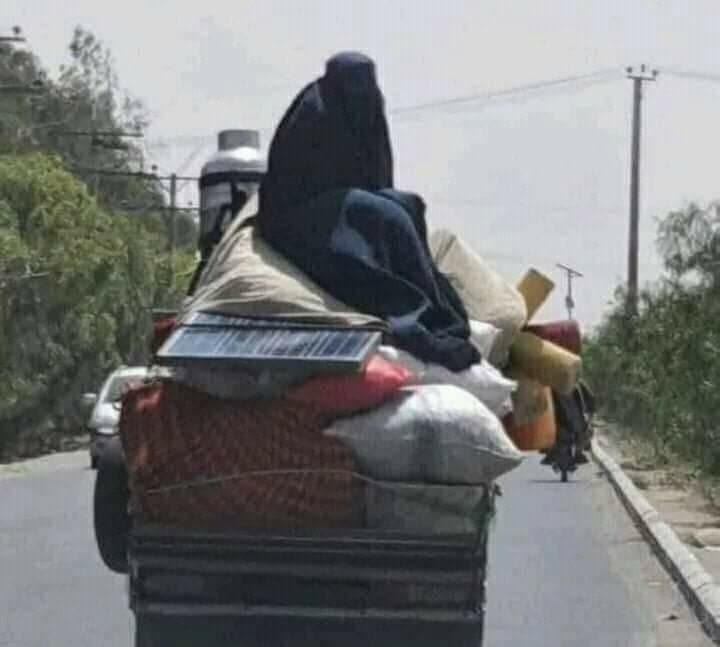 families leaving their homes