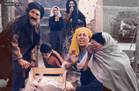 Family mourns dead child during Jehadi war