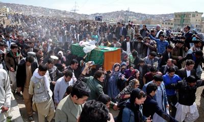 Farkhunda's funeral in Kabul