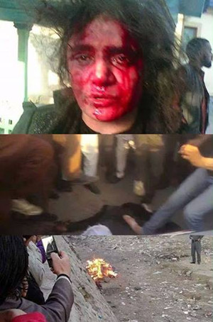 The young woman, Farkhunda, was accused of burning the Quran and beaten and burnt by a group of thugs in the area