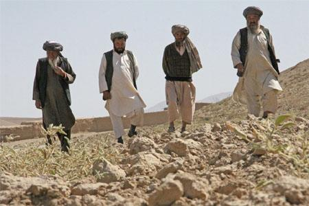 Farmers in Samangan Province – close to three million people are facing food shortages