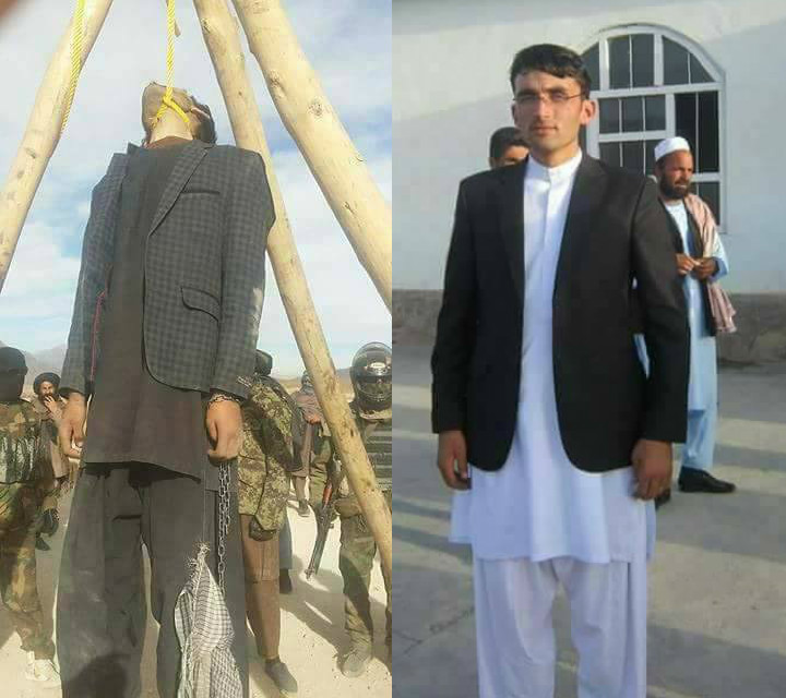 aliban publicly hanged Fazul Rahman, a university student, in a square in Wardak province