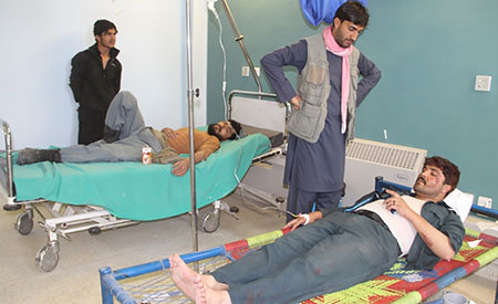 Up to 150 people were injured in the Gardez attack