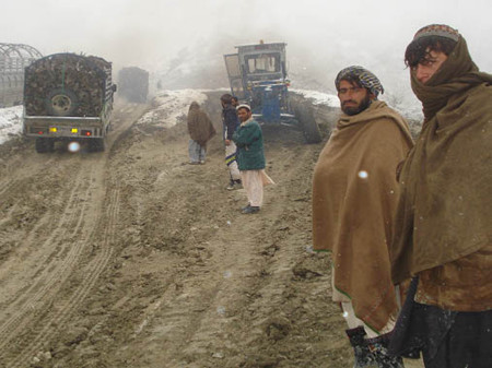 A section of the Gardez-Khost road before reconstruction