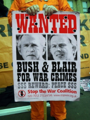 George Bush and Tony Blair are war criminals